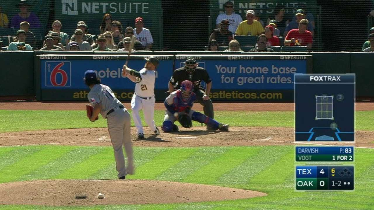 TEX@OAK: Darvish strikes out Vogt swinging in the 6th | Boosh Sports | Buzzworthy Sports News