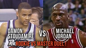 the best attitude 478fc 3a4c4 Michael Jordan vs Damon Stoudamire Duel – MJ Teaches Rookie In Clutch !  (Jan. 18, 1996)