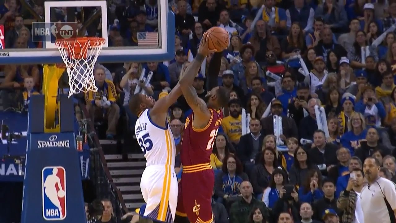 Kevin Durant Blocks LeBron James | Cavaliers vs Warriors ...